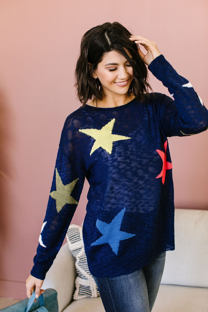 Starring You Sweater In Navy