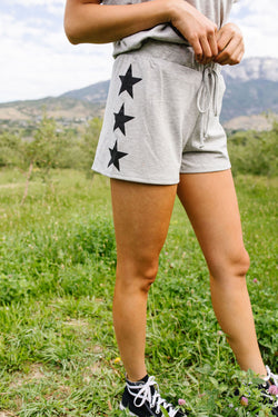 Three Star Shorts In Heather Gray