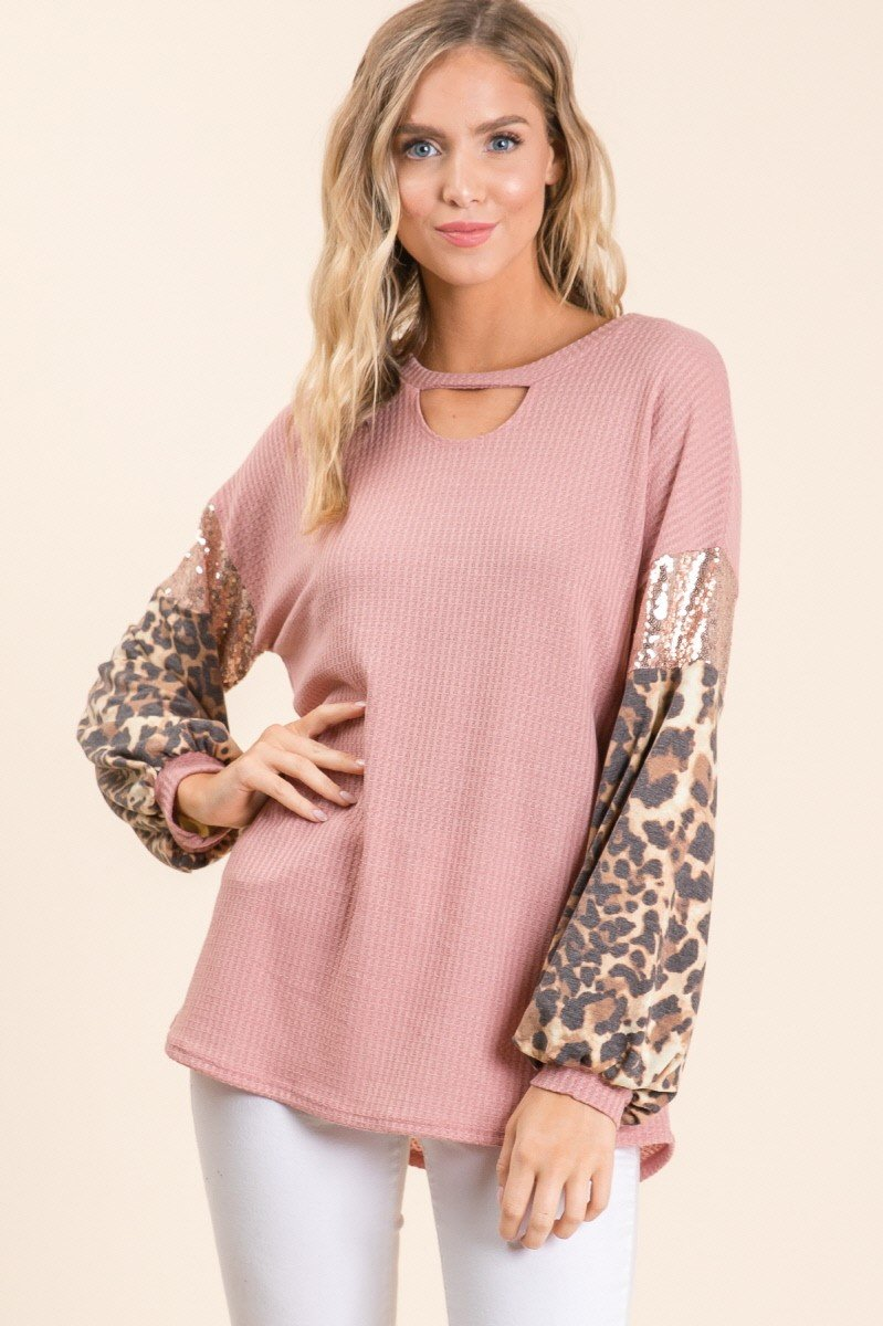 Pretty in Pink Puff Sleeve Tunic