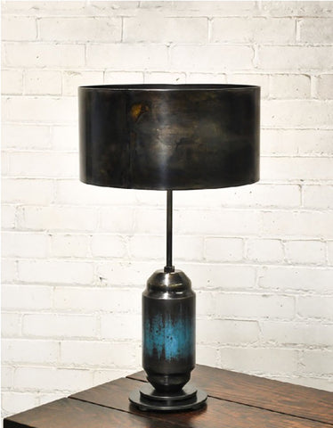 Blue Vassel Lamp