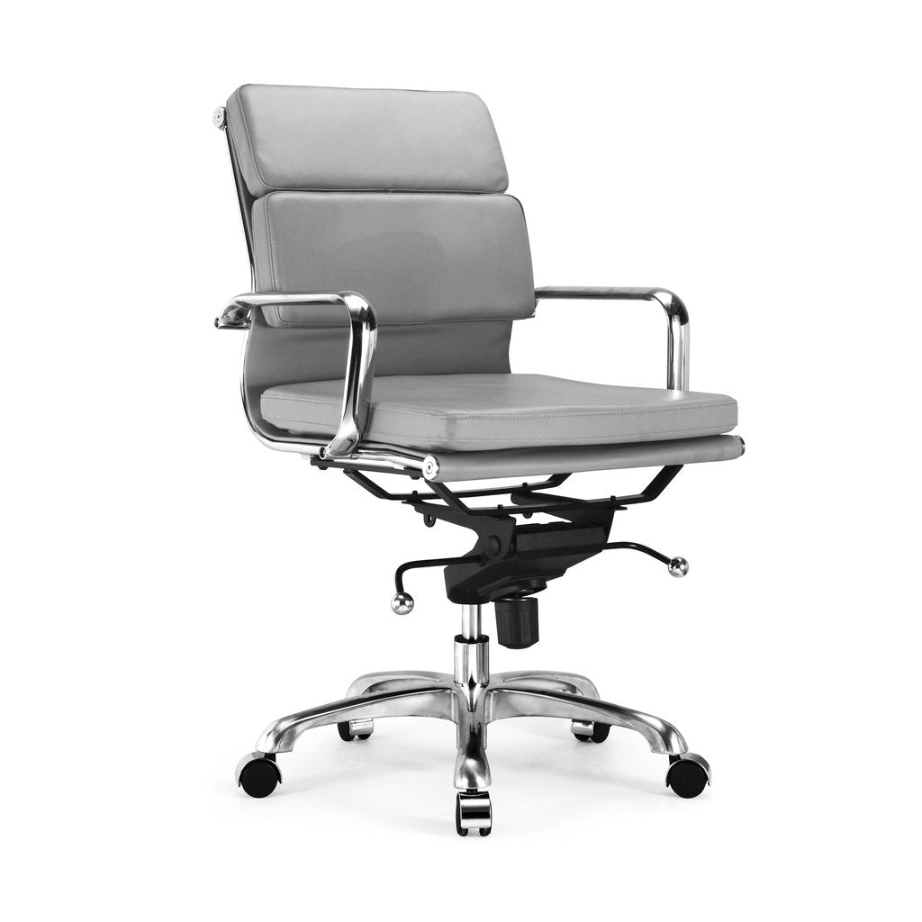 DesignLabMN-Century Padded Modern Classic Aluminum Office Chair (Set of 2)-Office Chairs-MODTEMPO