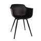 Grazia Retro Mid Century Arm Chair Black Base Original Design (Set of 4)