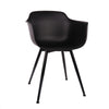-Grazia Retro Mid Century Arm Chair Black Base Original Design (Set of 4)--MODTEMPO
