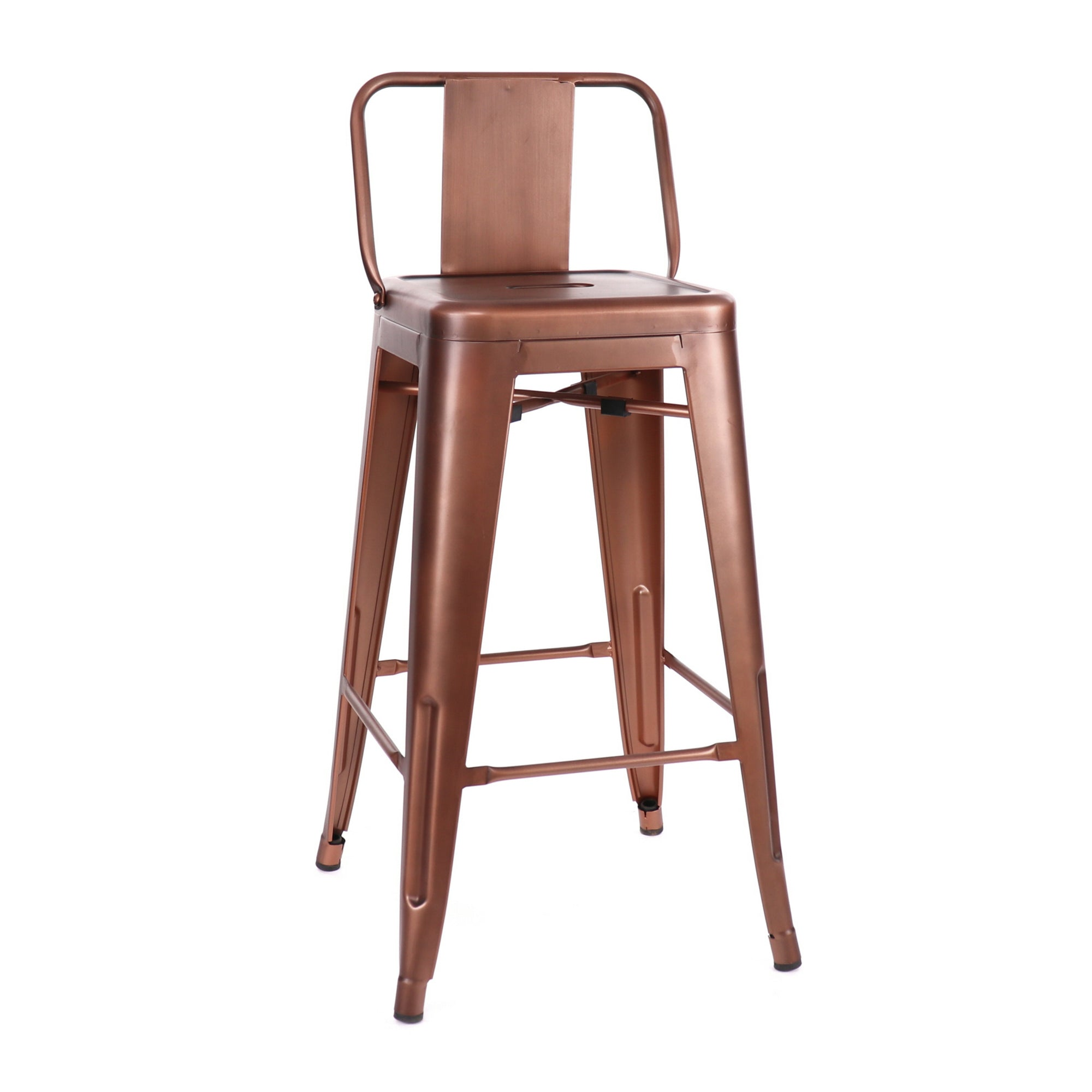 DesignLabMN-Dreux Low Back Steel Counter Stool 26 Inch (Set of 4)-Counter Stools-MODTEMPO