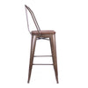DesignLabMN-Dreux Elm Wood Steel Bar Chair 30 Inch (Set of 4)-MODTEMPO-MODTEMPO