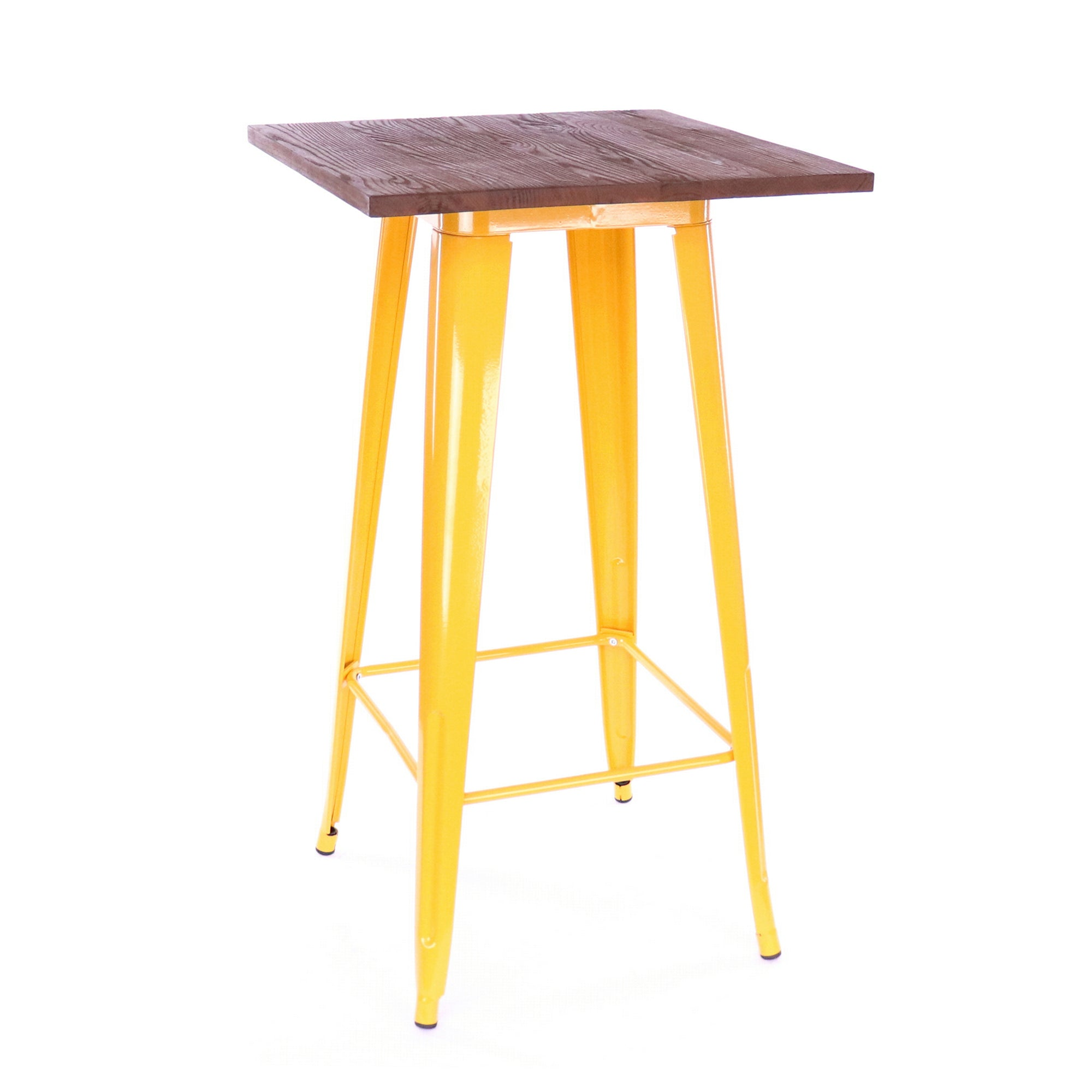 DesignLabMN-Dreux Elm Wood Steel Bar Table-Bar Tables-MODTEMPO