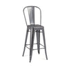 DesignLabMN-Dreux Steel High Back Barstool 30 Inch (Set of 4)-MODTEMPO-MODTEMPO