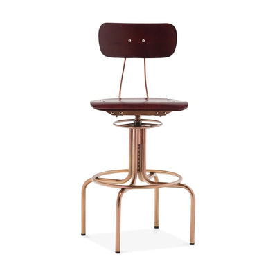 DesignLabMN-Fabrikator Adjustable High Back Bar Chair 25 - 29 Inch-MODTEMPO-MODTEMPO