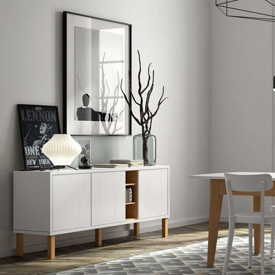 Tema Home-Niche Sideboard w/ Notched Doors & Oak Legs 168076-NICHESNO-Sideboard-MODTEMPO