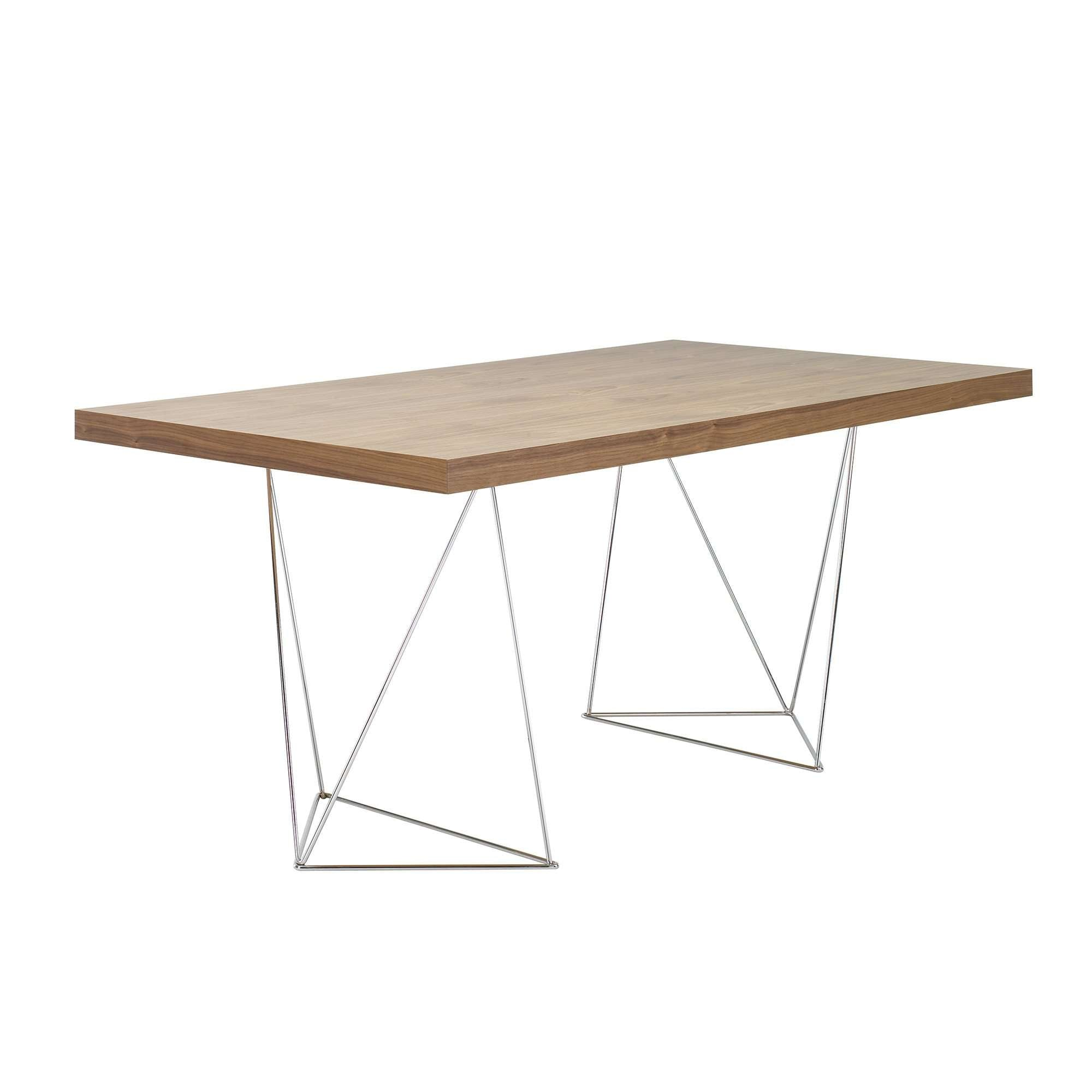 "Tema Home-Multi 63"" Table Top w/ Trestles 077040-MULTI63T-Dining Table-MODTEMPO"
