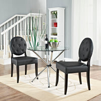 Button Dining Side Chair Set of 2 EEI-1279