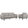 Empress Armchair and Sofa Set of 2 EEI-1313