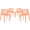 Curvy Dining Chairs Set of 4 EEI-1315