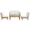 Marina 5 Piece Outdoor Patio Teak Sofa Set EEI-1477