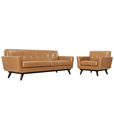Engage 2 Piece Leather Living Room Set EEI-1766