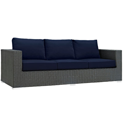 Sojourn Outdoor Patio Sunbrella Sofa EEI-1860