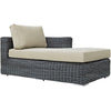 Summon Outdoor Patio Sunbrella Right Arm Chaise EEI-1873