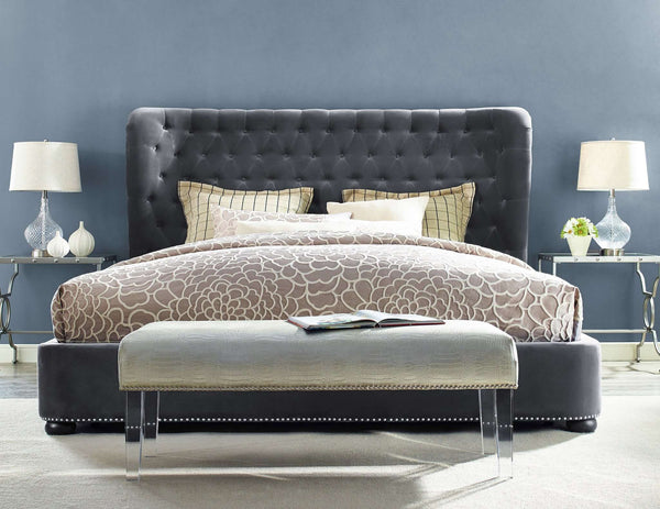 Finley Velvet Bed in King