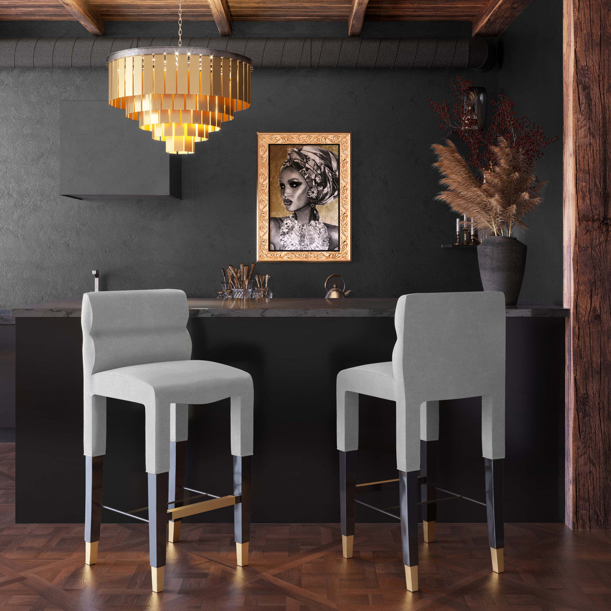 TOV-Taylor Velvet Counter Stool-Bar Stools & Counter Stools-MODTEMPO