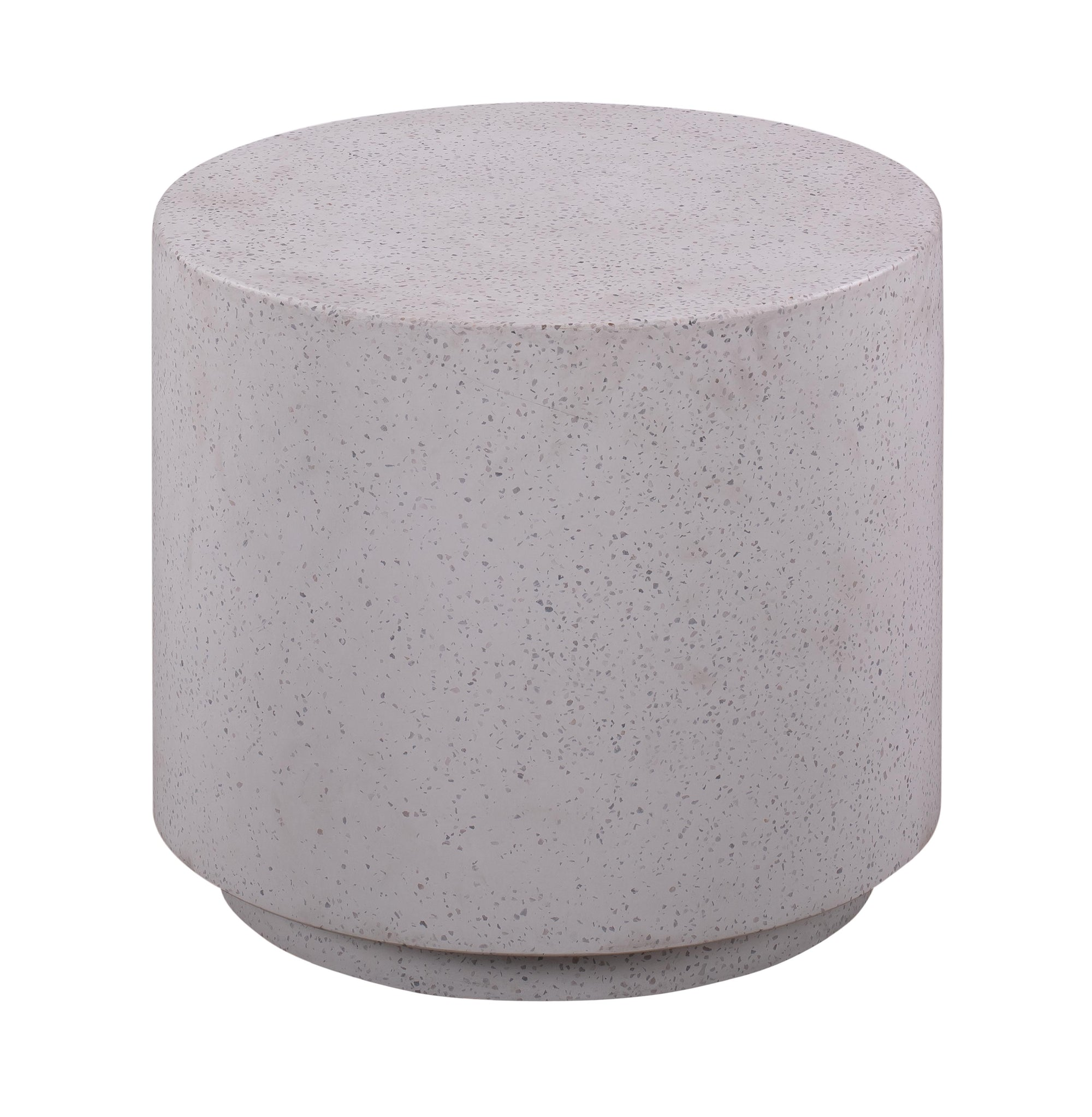 TOV-Terrazzo Light Speckled Side Table-End/Side Tables-MODTEMPO