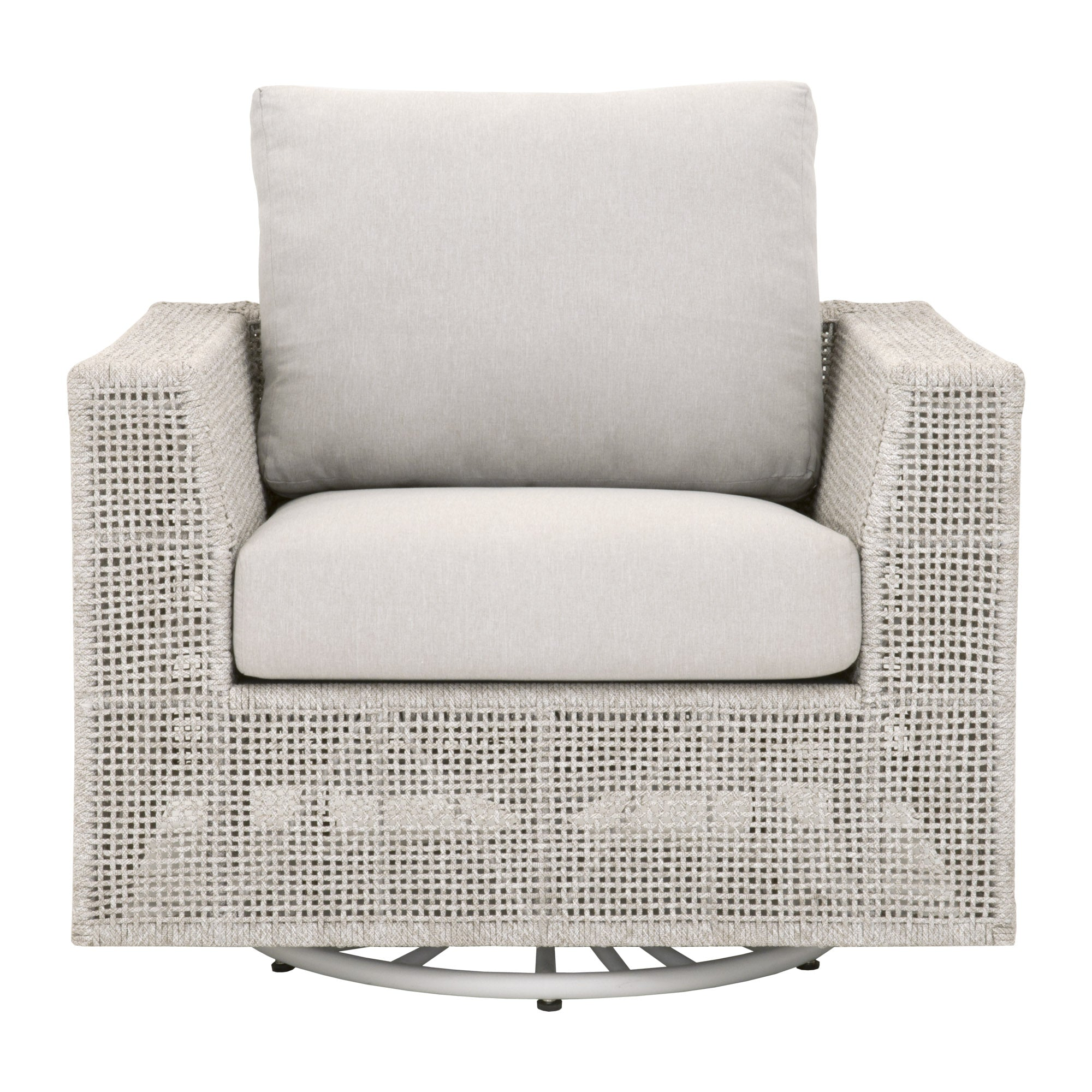 Essentials for Living-Tropez Outdoor Swivel Sofa Chair-Outdoor Lounge Chairs-MODTEMPO