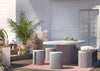 TOV-Wave Concrete Dining Table-Dining Tables-MODTEMPO