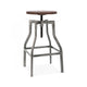 Machinist Wood Adjustable Barstool