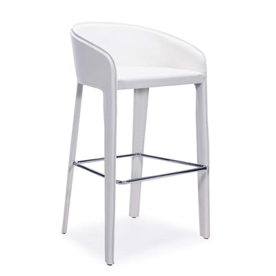 Bellini-Anabel Barstool with chrome footrest-Bar Stools & Counter Stools-MODTEMPO