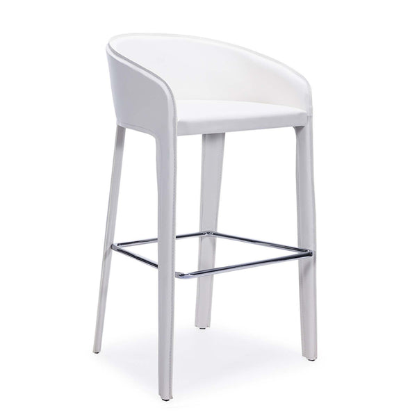 Anabel Barstool with chrome footrest