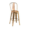 DesignLabMN-Dreux High Back Steel Barstool 30 Inch (Set of 4)-MODTEMPO-MODTEMPO
