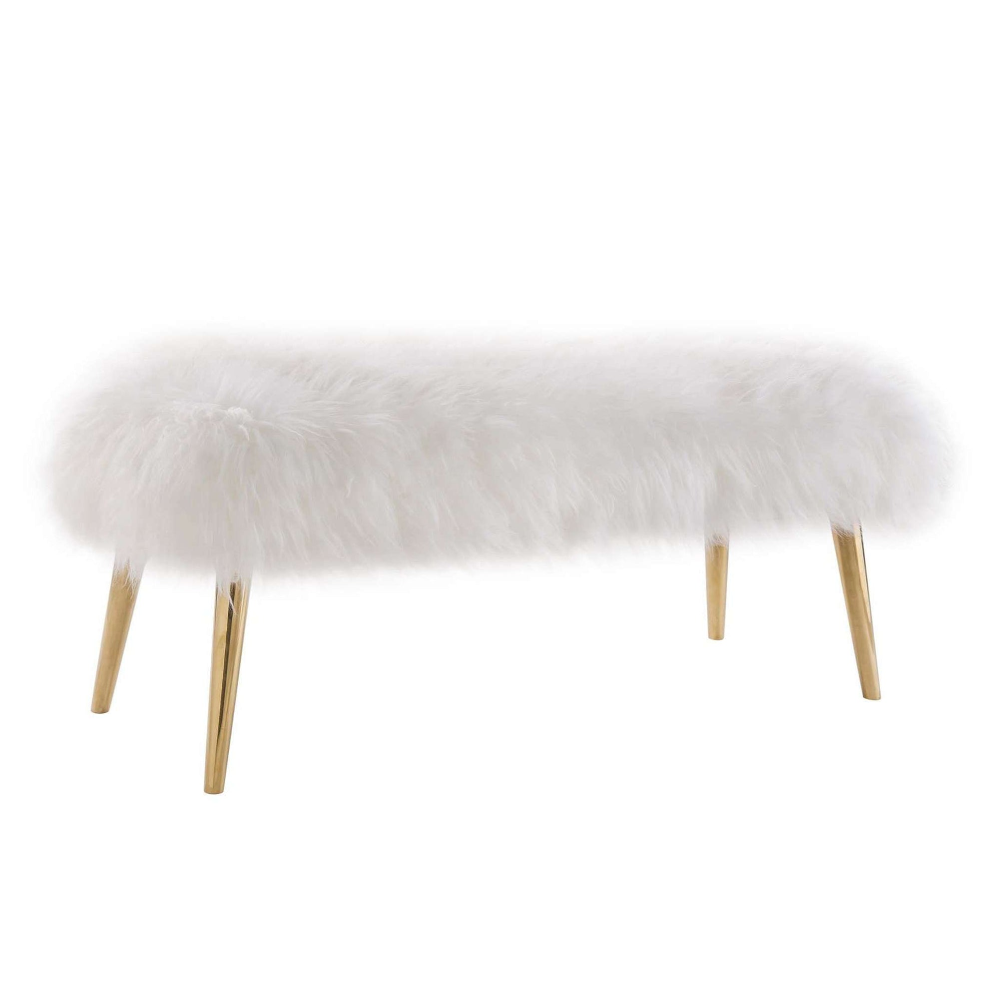 Tov-Churra Sheepskin Bench-Bench-MODTEMPO