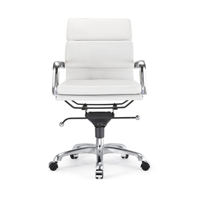 Century Padded Modern Classic Aluminum Office Chair (Set of 2)