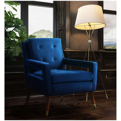 Tov-Draper Velvet Chair-Arm Chair-MODTEMPO