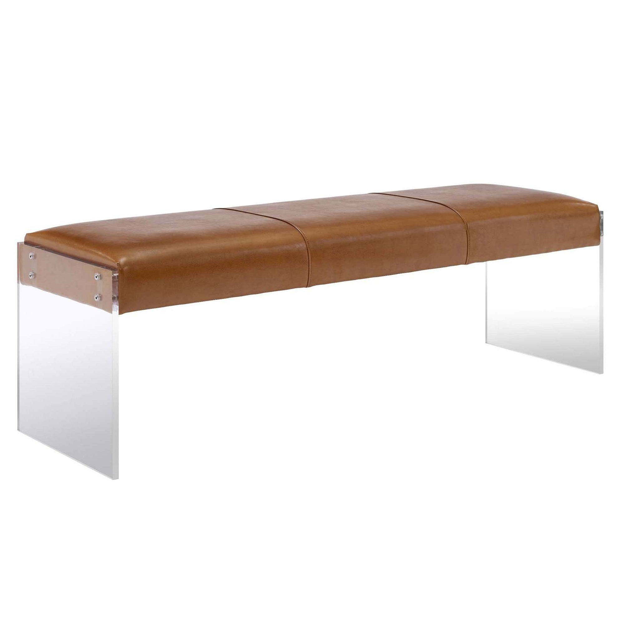 Tov-Envy Leather/Acrylic Bench-Bench-MODTEMPO