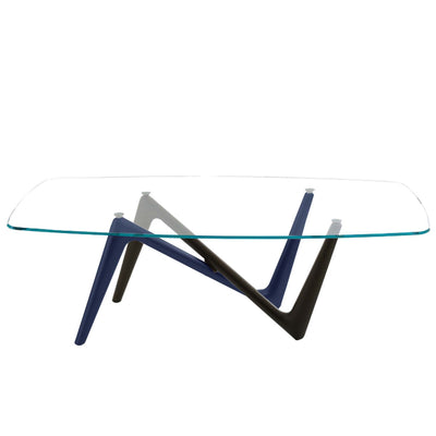 Bellini-Esse Dining Table, Base with Glass Top-Dining Tables-MODTEMPO