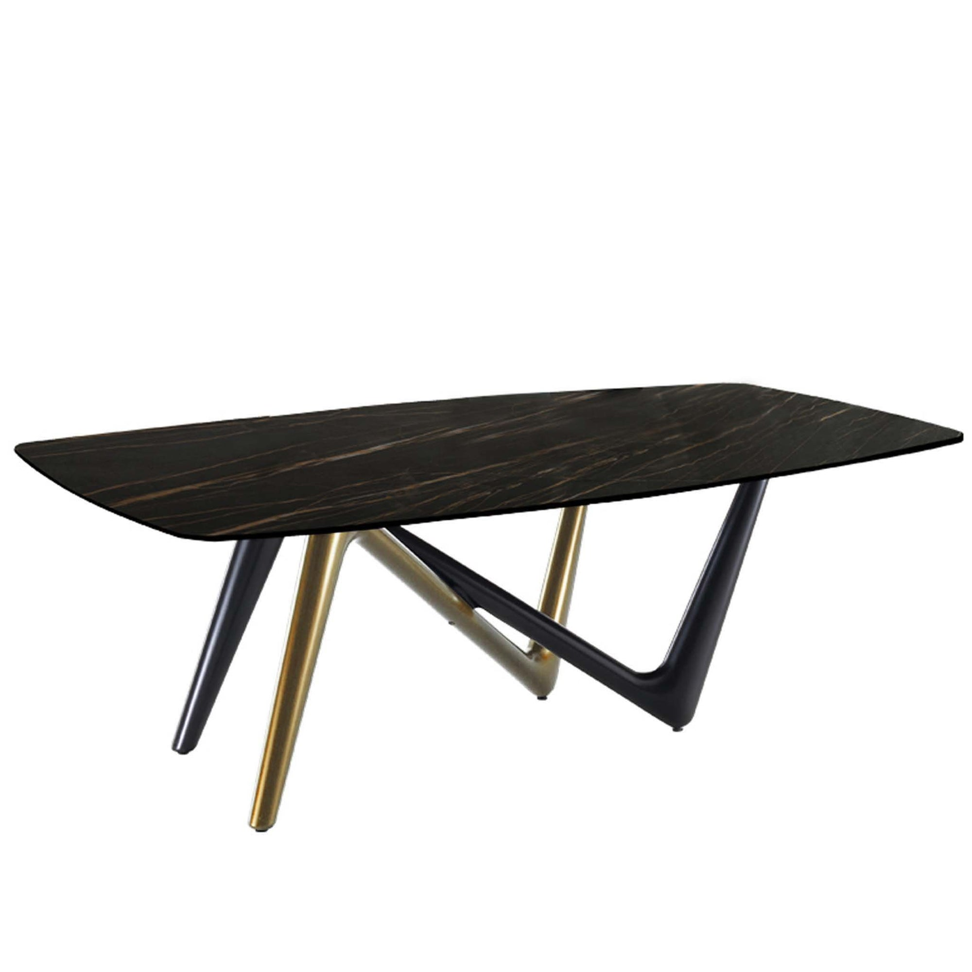 Bellini-Esse Dining Table, Base with Noir Desir Ceramic Top-Dining Tables-MODTEMPO
