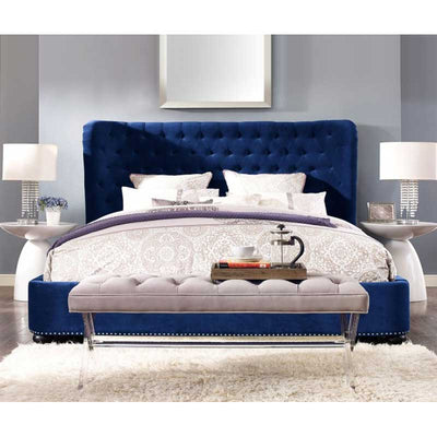 Tov-Finley Velvet Bed in Queen-Bed-MODTEMPO