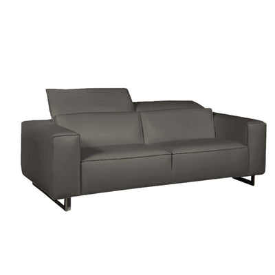 Bellini-Giadia Dark Grey Sofa With Adjustable Neck Cushions-Sofas-MODTEMPO