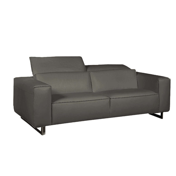 Giadia Dark Grey Sofa With Adjustable Neck Cushions