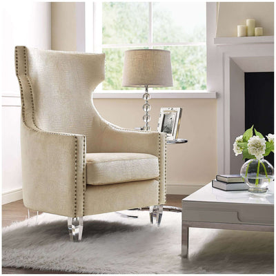 Tov-Gramercy Velvet Wing Chair-Arm Chair-MODTEMPO