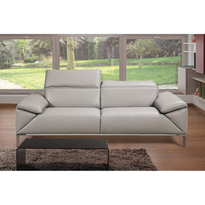 Bellini-Greta Light Grey Sofa With Adjustable Neck Cushions and Arm Rests-Sofas-MODTEMPO