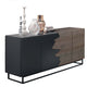 Kali Sideboard, ASH/ ANTHRACITE with Metal Base