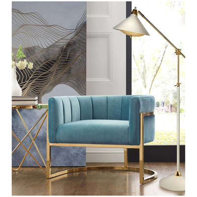 Tov-Magnolia Chair with Gold Base-Arm Chair-MODTEMPO