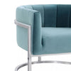 -Magnolia Chair with Silver Base--MODTEMPO