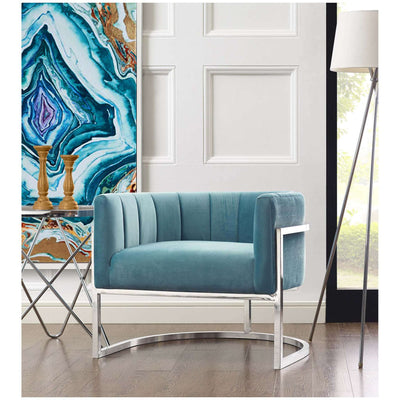 Tov-Magnolia Chair with Silver Base-Arm Chair-MODTEMPO