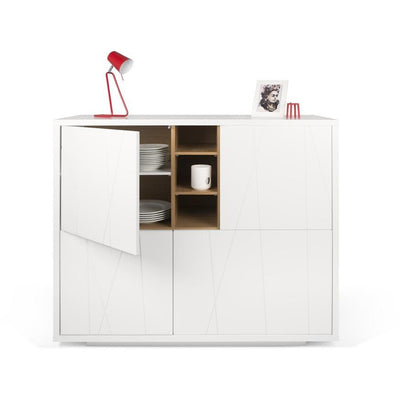 Tema Home-Niche Cupboard w/ Notched Doors & White Base 168076-NICHECNW-Sideboard-MODTEMPO