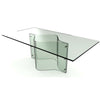 Onda Bent Glass Rectangular Dining Table