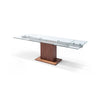 Whiteline Modern Living-Pilastro Extendable Dining Table-Dining Tables-MODTEMPO