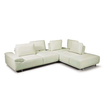 Bellini-Roxanne Right Hand Facing Sectional #35602 With Adjustable Back & Arm Cushions-Sectionals-MODTEMPO