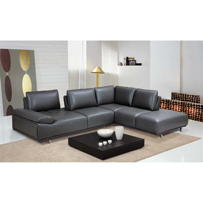 Bellini-Roxanne Right Hand Facing Sectional #35607 With Adjustable Back & Arm Cushions-Sectionals-MODTEMPO